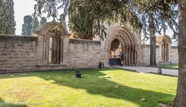 Cemetery with romanesque entrance