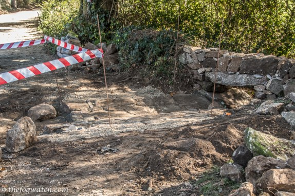 path under repair