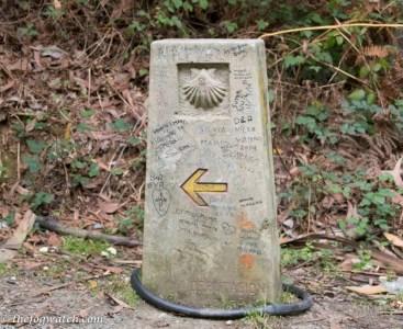 Camino marker, Galicia