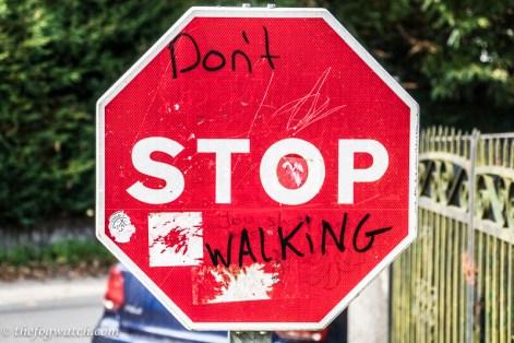 Don't stop walking