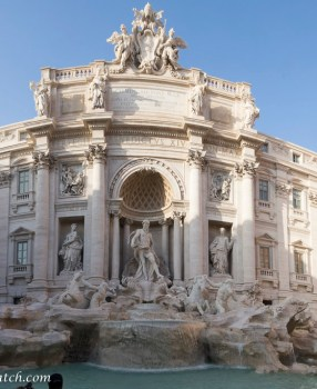 Rome – The Trevi Fountain and an ancient aqueduct