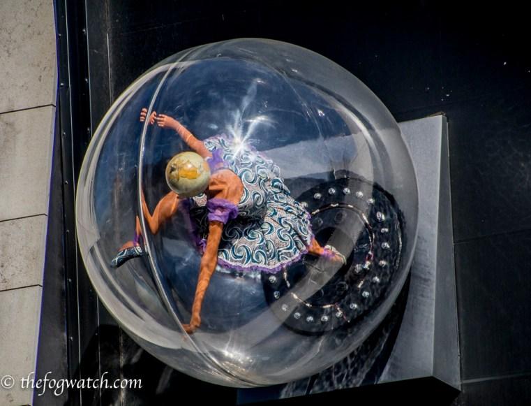 Dancer sculpture seen in London