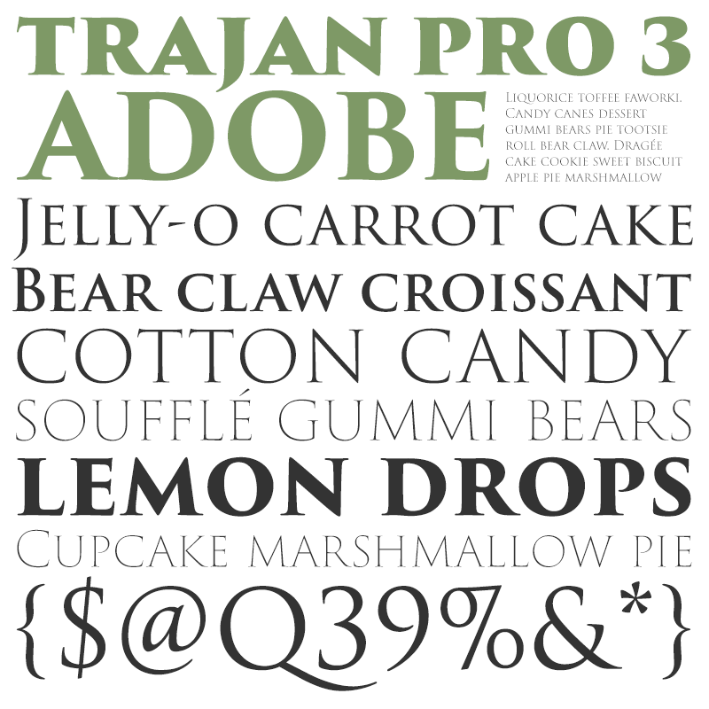 Trajan Pro 3 [6 Fonts] | The Fonts Master
