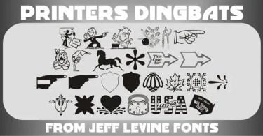 Printers Dingbats JNL [1 Fonts]