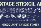 Vintage Stencil Art JNL [1 Font]