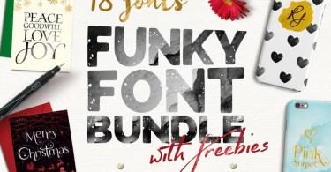 Funky Font Bundle + Extras [23 Fonts + Extras]