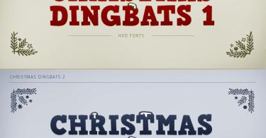 Christmas Dingbats 1 & 2 [2 Fonts]
