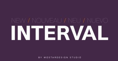 Interval Sans Pro [14 Fonts]
