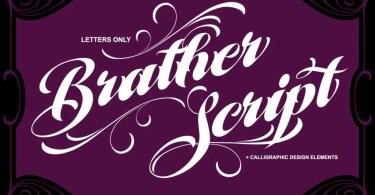 MCF Brather Script [1 Font + Extra]