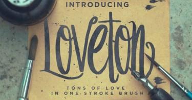 Loveton [1 Font + Extras]