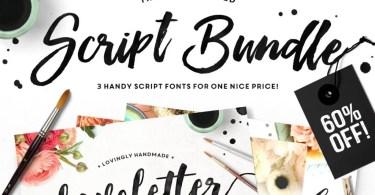 The Brush Script Bundle [3 Fonts + Extras]