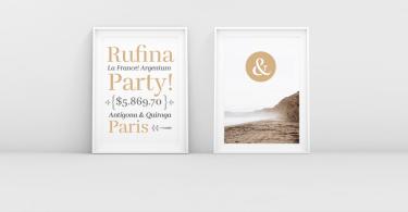 Rufina Stencil [9 Fonts]