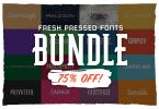 Fresh Pressed Fonts Bundle [35 Fonts]