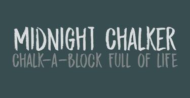 Midnight Chalker [2 Fonts]