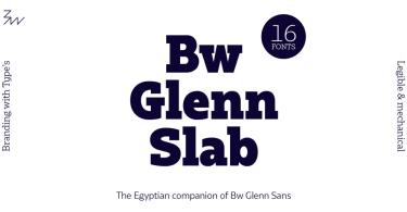 Bw Glenn Slab Super Family [16 Fonts]