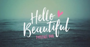 Hello Beautiful [3 Fonts]