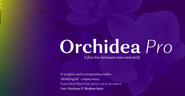 Orchidea Pro Super Family [16 Fonts]