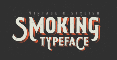Smoking Typeface [3 Fonts]