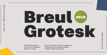 Breul Grotesk Super Family [32 Fonts]