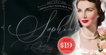 Absolutely Adorable Sophia [4 Fonts + Extras]