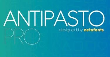 Antipasto Pro Super Family [17 Fonts]