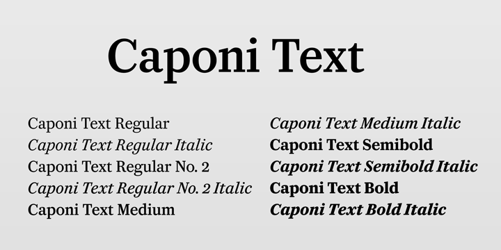 Caponi Text [10 Fonts] | The Fonts Master