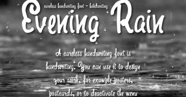 Evening Rain [1 Font + Extras]