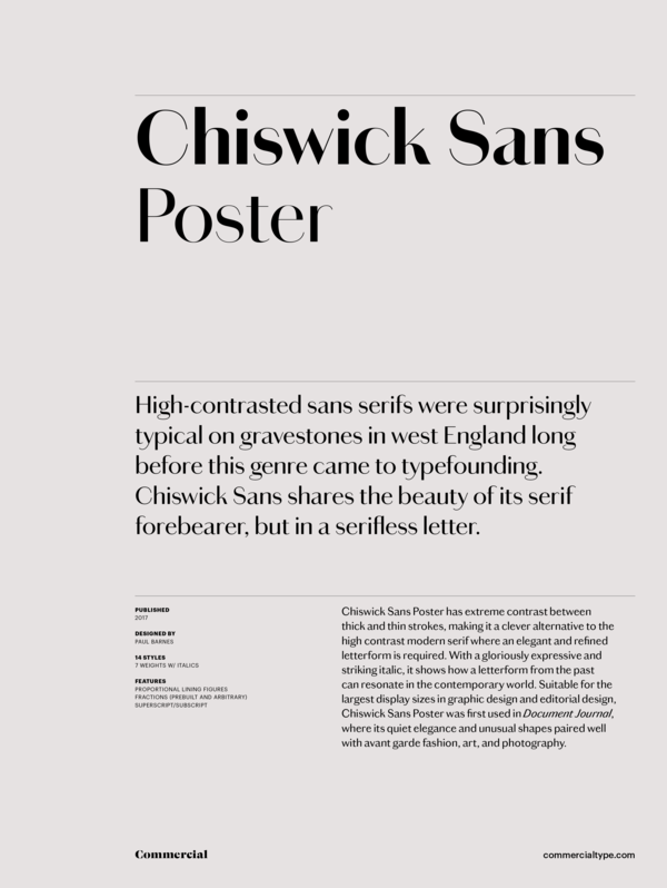 Chiswick Sans Poster Super Family [14 Fonts] | The Fonts Master