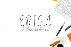 Erica [1 Font] | The Fonts Master