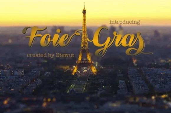Foie Gras [1 Font] | The Fonts Master