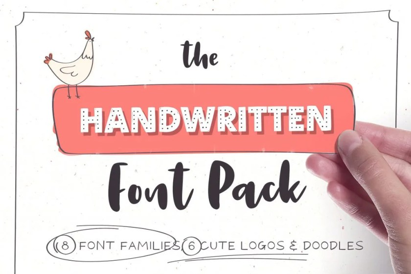 Handwritten Font Pack & Extras [13 Fonts + Extras] | The Fonts Master