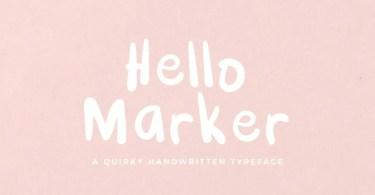 Hello Marker [1 Font]