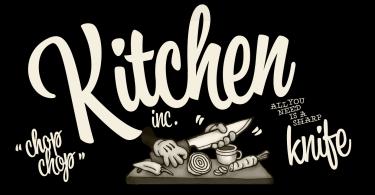 Kitchen [3 Fonts]