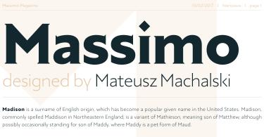 Massimo Super Family [14 Fonts]