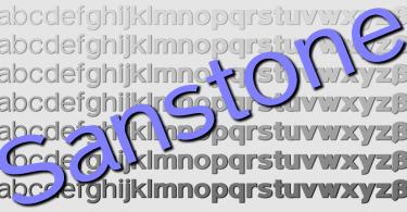 Sanstone [20 Fonts]