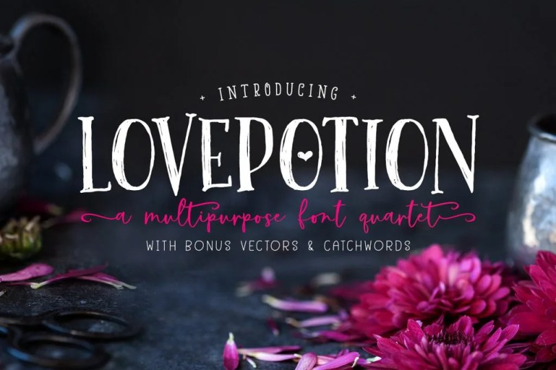 The Lovepotion Font Collection [4 Fonts] | The Fonts Master