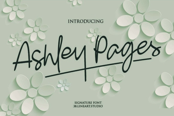 Ashley Pages [1 Font] | The Fonts Master