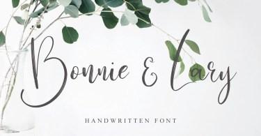 Bonnie & Lary Script [1 Font]