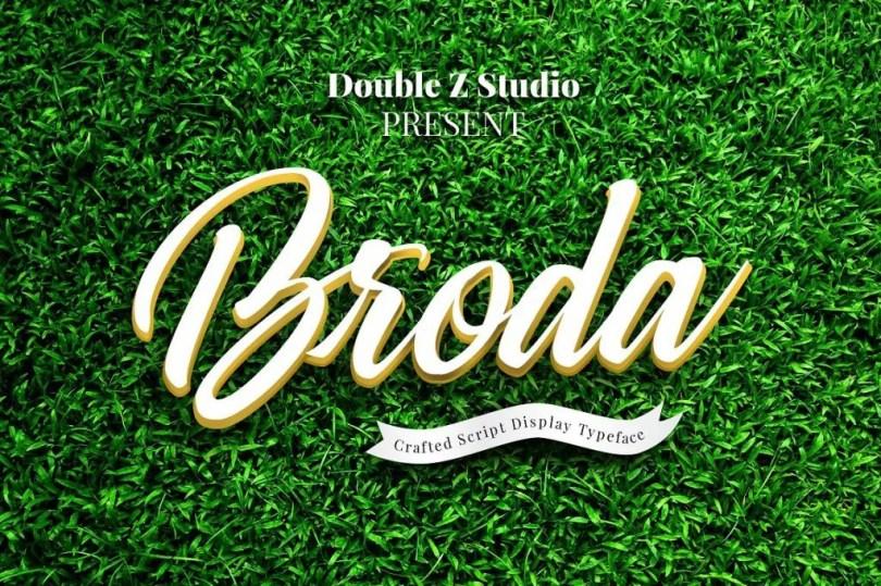 Broda Script [1 Font] | The Fonts Master