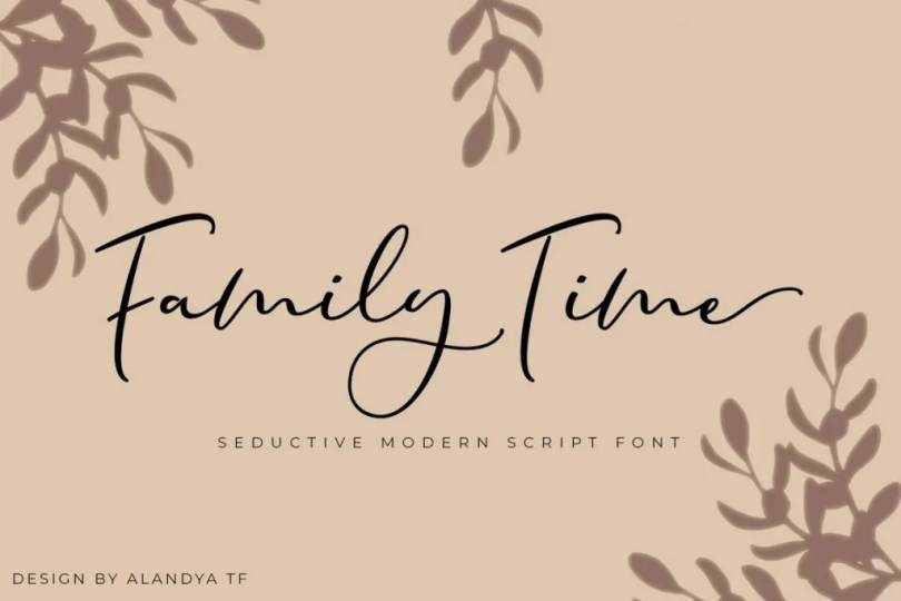 Family Time [1 Font] | The Fonts Master