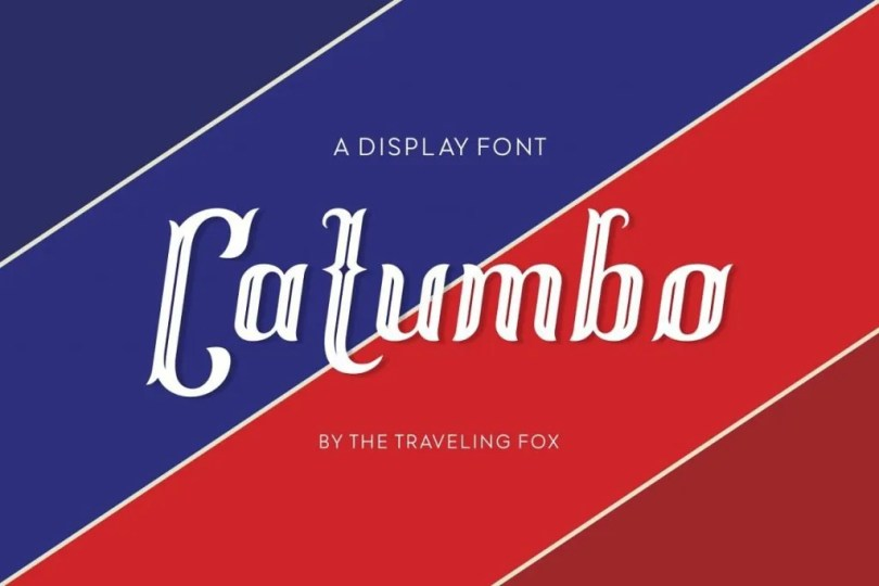 Catumbo [1 Font] | The Fonts Master