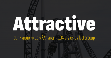 Attractive Super Family [104 Fonts]