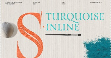 Turquoise Inline [1 Font]