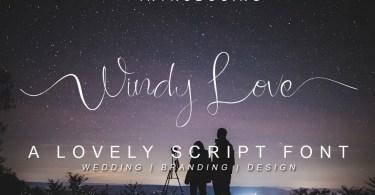 Windy Love [2 Fonts]