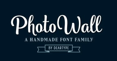 PhotoWall [16 Fonts]