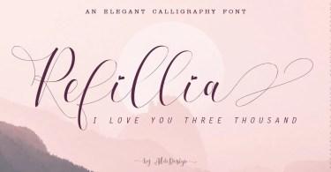 Refillia Calligraphy [9 Fonts]