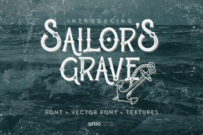 Sailor'S Grave [2 Fonts]   The Fonts Master