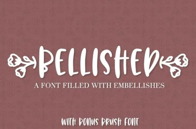 Bellished [2 Fonts]   The Fonts Master