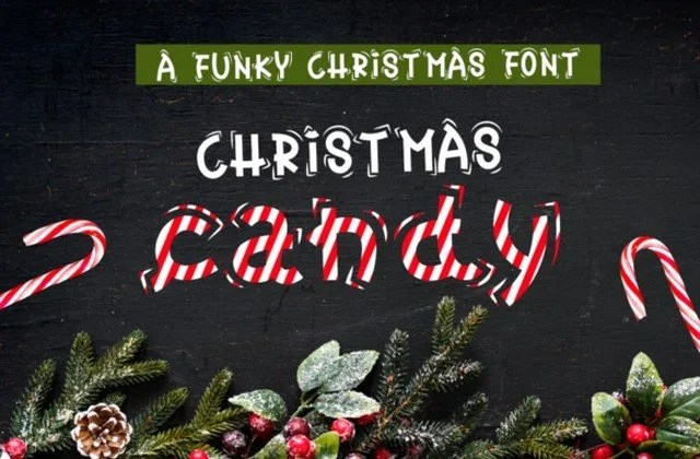 Christmas Candy [1 Font]   The Fonts Master