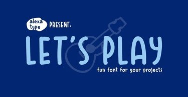 Let's Play [1 Font]